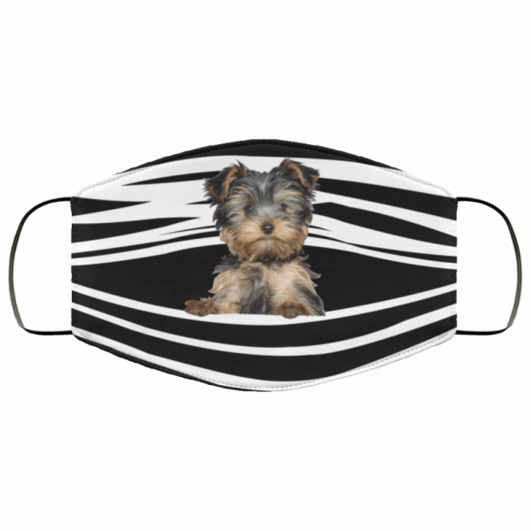 yorkshire terrier stripes fabric face mask 155603
