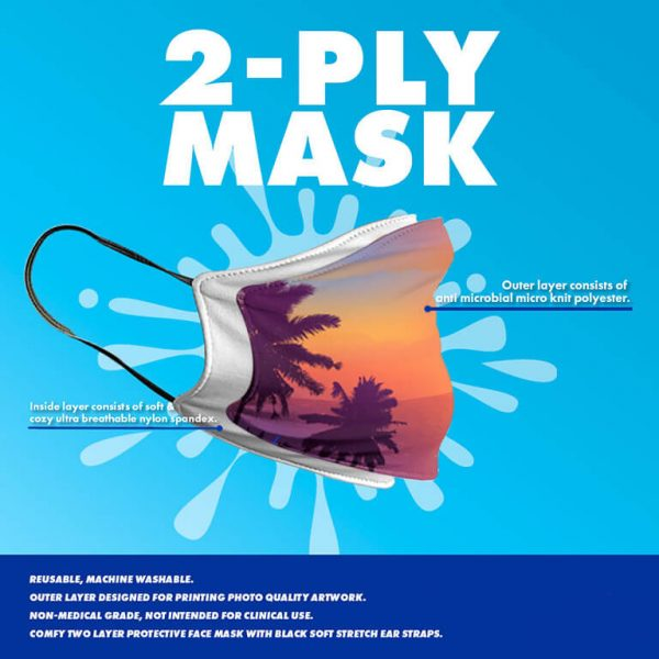 two layers face mask