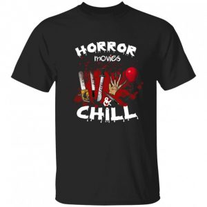 Horror Movies And Chill Murder Weapons Halloween shirt