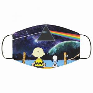 Snoopy And Charlie Brown Pink Floyd Face Mask
